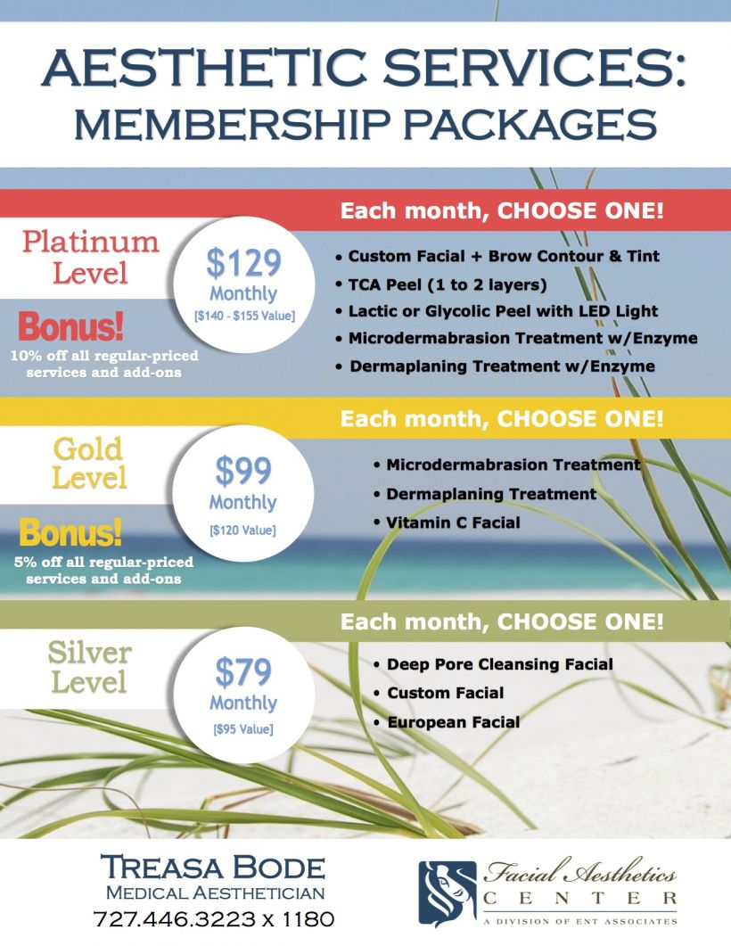 Aesthetic Membership Packages